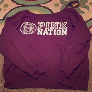 Vs pink pullover sweatshirt size small